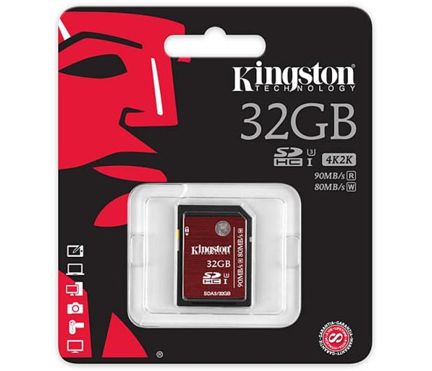 Kingston 32GB SDHC UHS-I U3 90MB/s - 174000 - zdjęcie 3