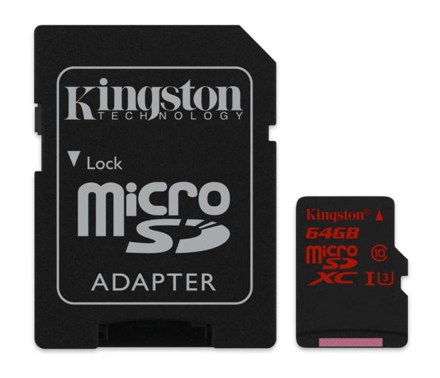 Kingston 64GB microSDXC UHS-I U3 zapis 80MB/s odczyt 90MB/s - 219778 - zdjęcie 3