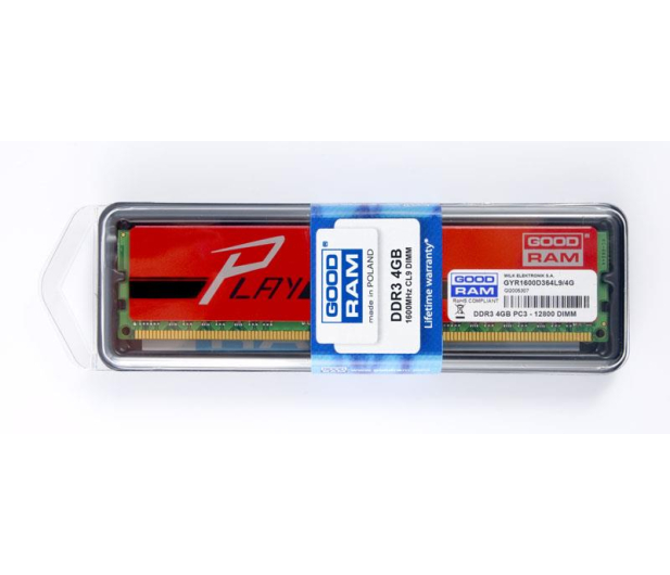 GOODRAM 4GB 1600MHz Play Red CL9 - 230085 - zdjęcie 2
