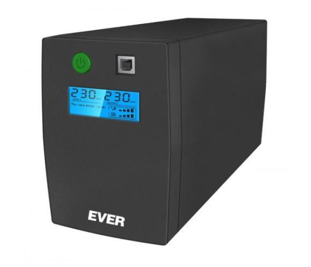 Ever EASYLINE 850 AVR (850VA/480W, 2xPL, USB, AVR, LCD) - 241508 - zdjęcie
