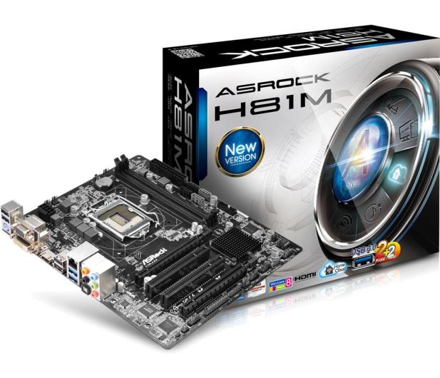ASRock H81M (H81 2xPCI-E DDR3) - 156540 - zdjęcie