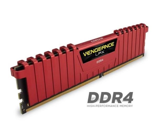 Corsair 16GB 2133MHz Vengeance LPX Red CL13 (4x4GB) - 216133 - zdjęcie 3