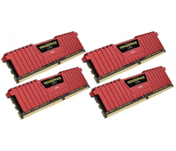 Corsair 16GB 2133MHz Vengeance LPX Red CL13 (4x4GB) - 216133 - zdjęcie 2