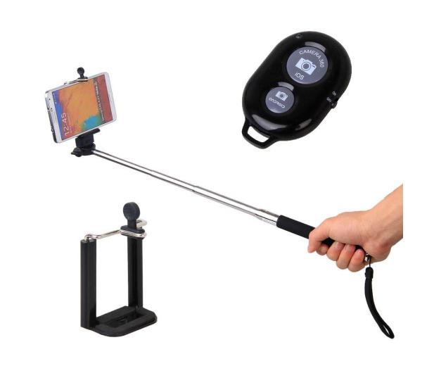 SHIRU Selfie Stick Monopod bezprzewodowy + pilot - 248645 - zdjęcie 2