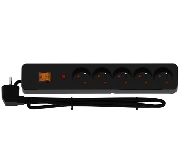 HSK DATA Acar X5 - 5 gniazd, 3m, czarna - 249373 - zdjęcie