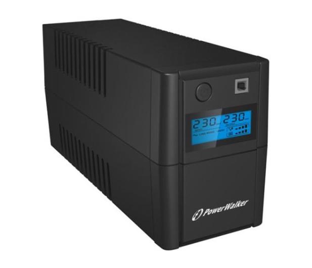 Power Walker VI 850 SE LCD (850VA/480W, 2xPL, USB, LCD, AVR) - 208707 - zdjęcie 2