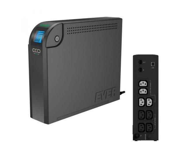 Ever ECO 1000 LCD (1000VA/600W, 8xIEC, RJ-45, USB, LCD) - 172030 - zdjęcie