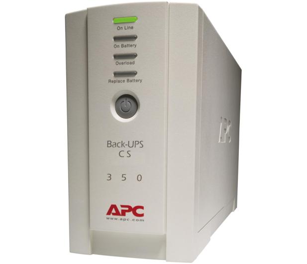 APC Back-UPS CS (350VA/210W, 4xIEC, RJ-45) - 27381 - zdjęcie