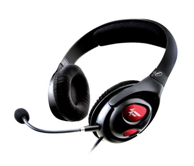 Creative HS-800 Fatality Gaming czarne z mikrofonem - 24183 - zdjęcie