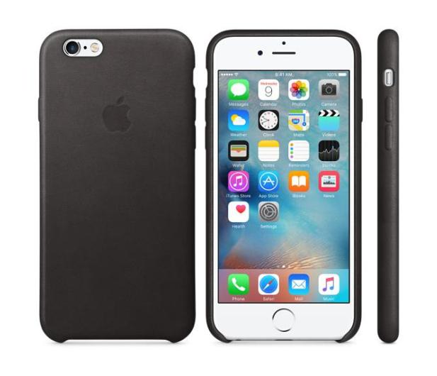 Apple iPhone 6s Leather Case czarny - 259184 - zdjęcie