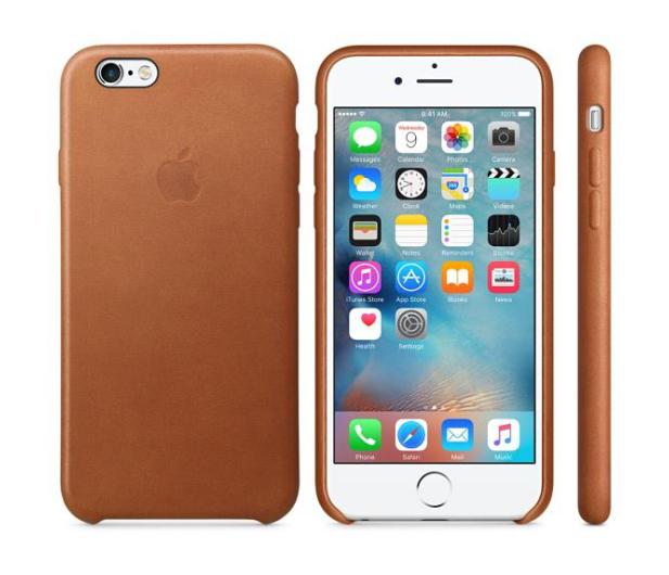 Apple iPhone 6s Leather Case jasny brązowy - 259178 - zdjęcie
