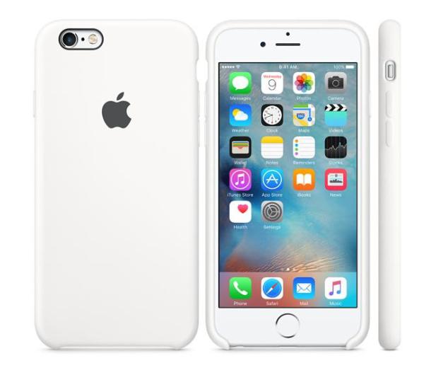 Apple Silicone Case do iPhone 6s biały - 259188 - zdjęcie