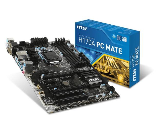 MSI H170A PC MATE (H170 2xPCI-E DDR4) - 260422 - zdjęcie