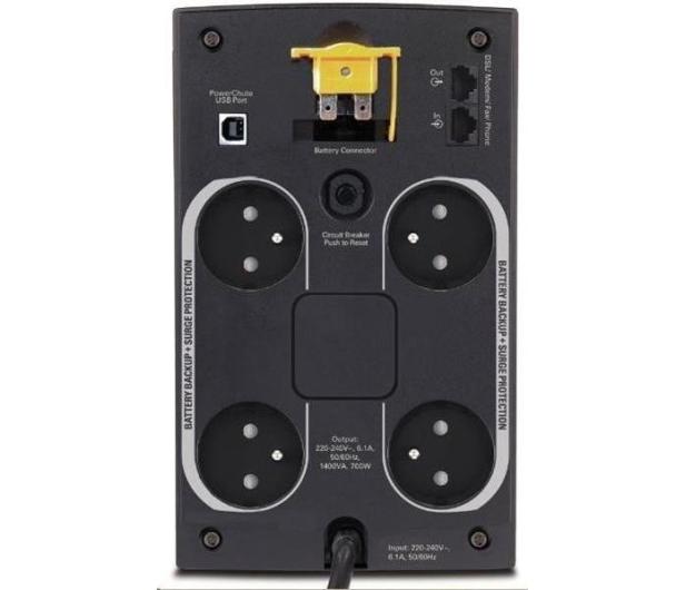 APC Back-UPS (1400VA/700W, 4xFR, AVR) - 260377 - zdjęcie 2