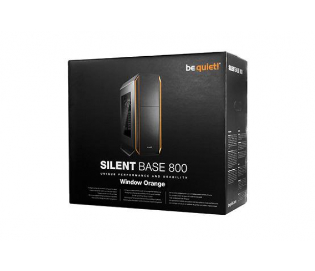 be quiet! Silent Base 800 czarno-pomarańczowa z oknem - 252390 - zdjęcie 5