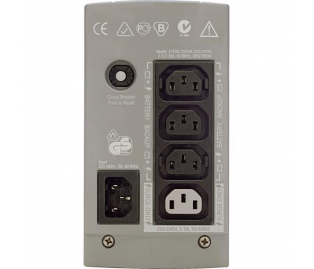 APC Back-UPS 325 (350VA/210W, 4xIEC) - 260369 - zdjęcie 2