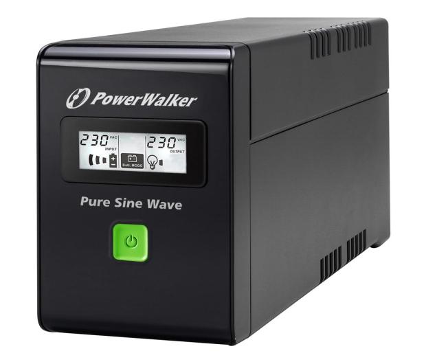 Power Walker LINE-INTERACTIVE (600VA/360W, 2xPL, AVR, LCD) - 253672 - zdjęcie