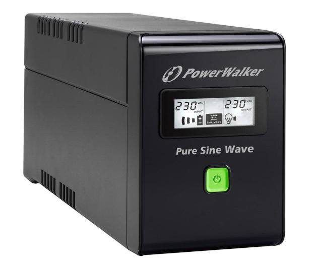 Power Walker LINE-INTERACTIVE (600VA/360W, 2xPL, AVR, LCD) - 253672 - zdjęcie 3