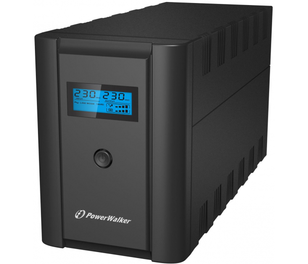 Power Walker LINE-INTERACTIVE (1200VA/600W, 2xPL/IEC, AVR, LCD) - 253675 - zdjęcie