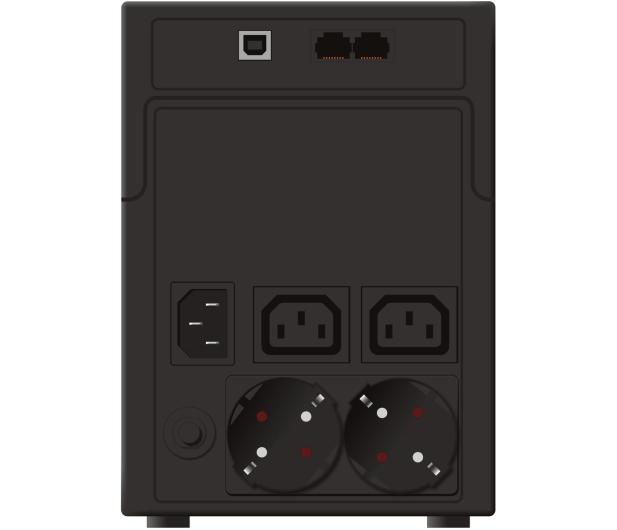 Power Walker LINE-INTERACTIVE (1200VA/600W, 2xPL/IEC, AVR, LCD) - 253675 - zdjęcie 4