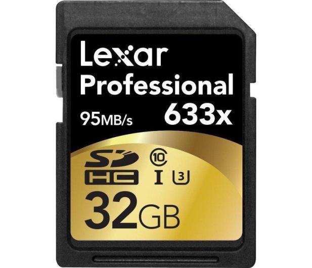 Lexar 32GB 633x Professional SDHC UHS-1 U1  - 257804 - zdjęcie