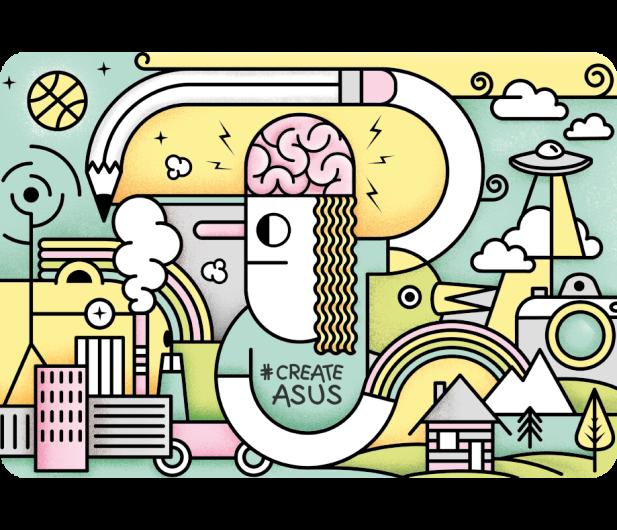 ASUS CreateAsUs Cover - W świecie Picasso - 330096 - zdjęcie