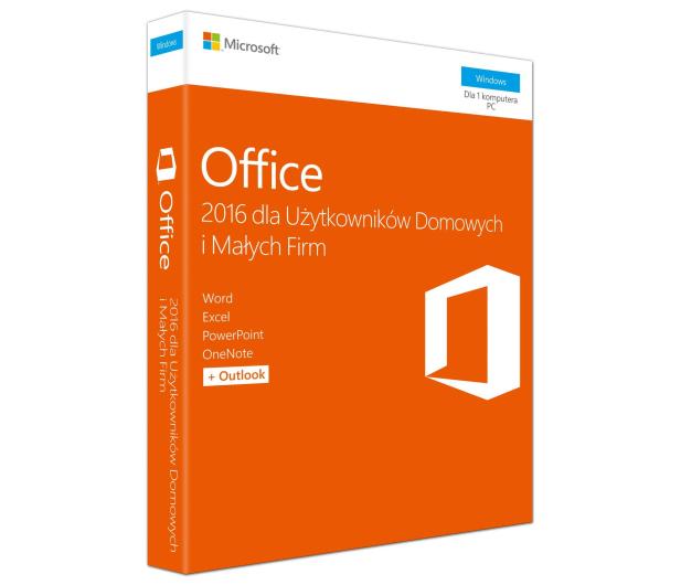 Microsoft Office 2016 dla Użytk. Domowych i Małych Firm  - 260266 - zdjęcie 1
