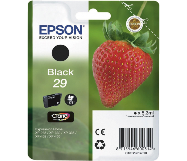 Epson 29 black 175 str.  - 332043 - zdjęcie