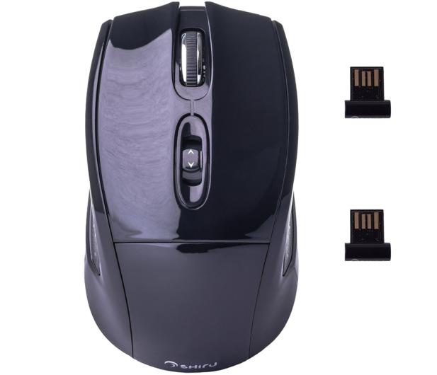 SHIRU Wireless Silent Mouse (Czarna) - 326904 - zdjęcie 5