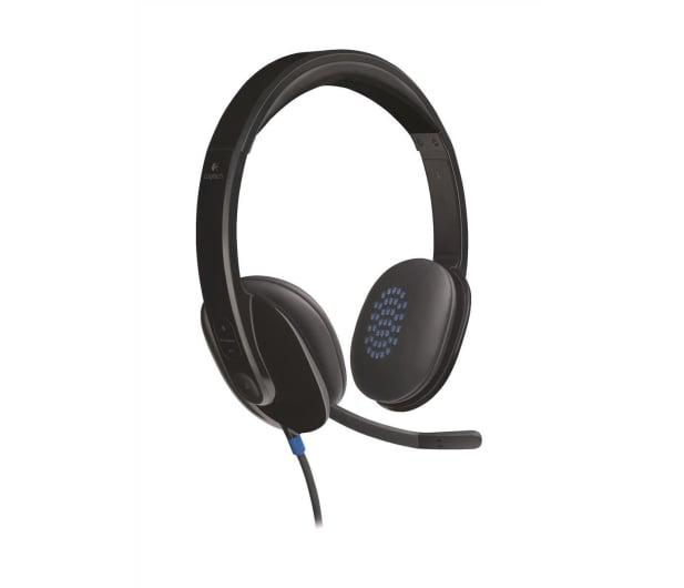 Logitech H540 Headset czarne z mikrofonem - 122603 - zdjęcie
