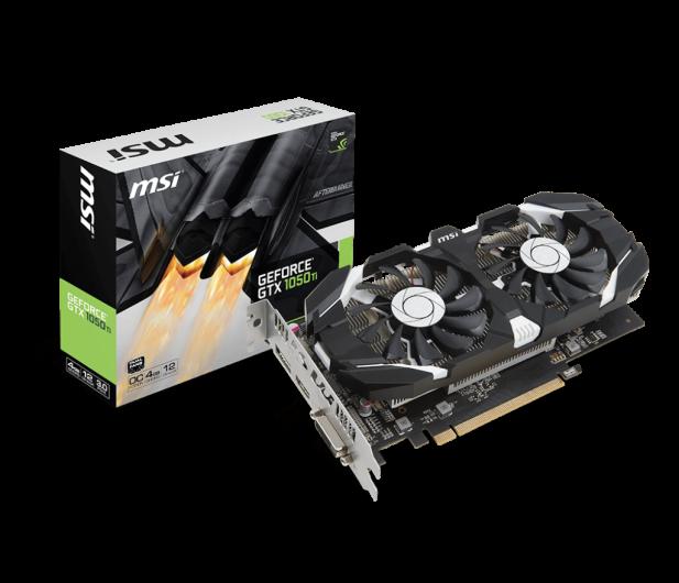 MSI GeForce GTX 1050 TI 4GT OC 4GB GDDR5  - 335408 - zdjęcie