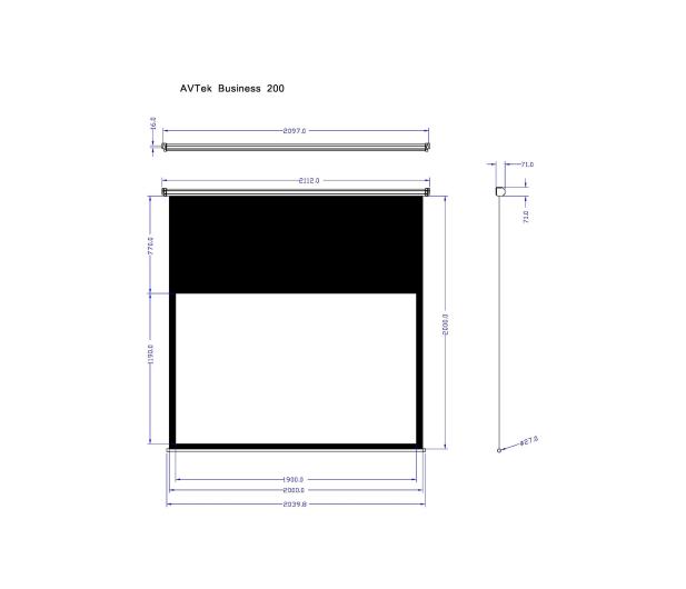 Avtek Ekran ręczny 88' 190x119 16:10 Biały Matowy  - 337631 - zdjęcie 2