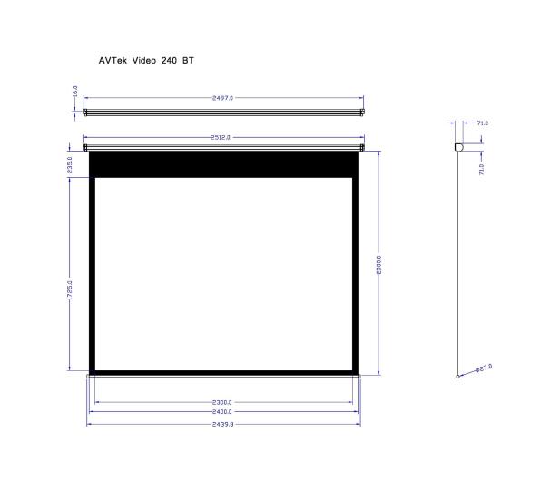 Avtek Ekran ręczny 113' 230x172,5 4:3 Biały Matowy - 337626 - zdjęcie 2
