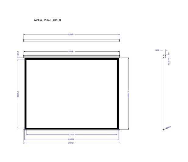 Avtek Ekran ręczny 133' 270x202,5 4:3 Biały Matowy  - 337630 - zdjęcie 2