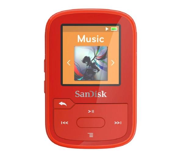 SanDisk Clip Sport Plus 16GB czerwony (bluetooth,tuner FM) - 338593 - zdjęcie 2