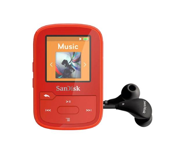 SanDisk Clip Sport Plus 16GB czerwony (bluetooth,tuner FM) - 338593 - zdjęcie