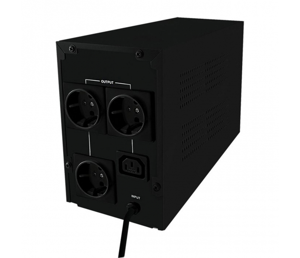 Qoltec UPS (1000VA/600W, IEC, 3xSchuko) - 337975 - zdjęcie 2