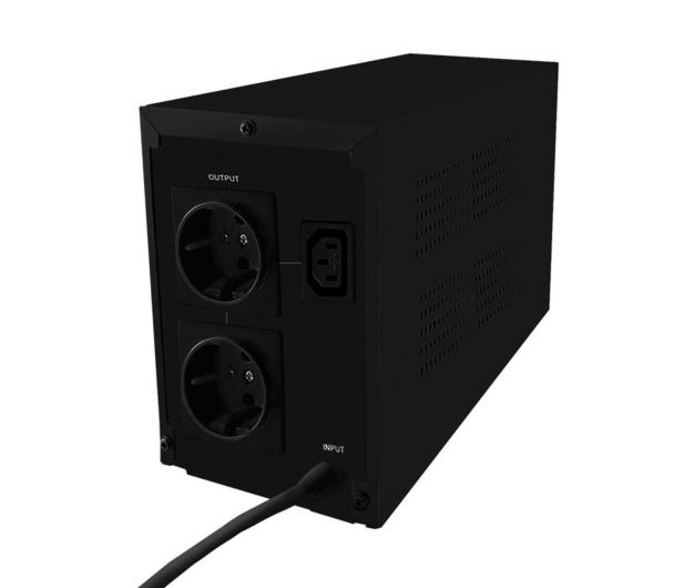 Qoltec Zasilacz awaryjny UPS 600VA 360W LCD - 337980 - zdjęcie 2