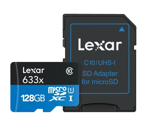 Lexar 128GB microSDXC 633x 95MB/s + adapter - 318645 - zdjęcie 3