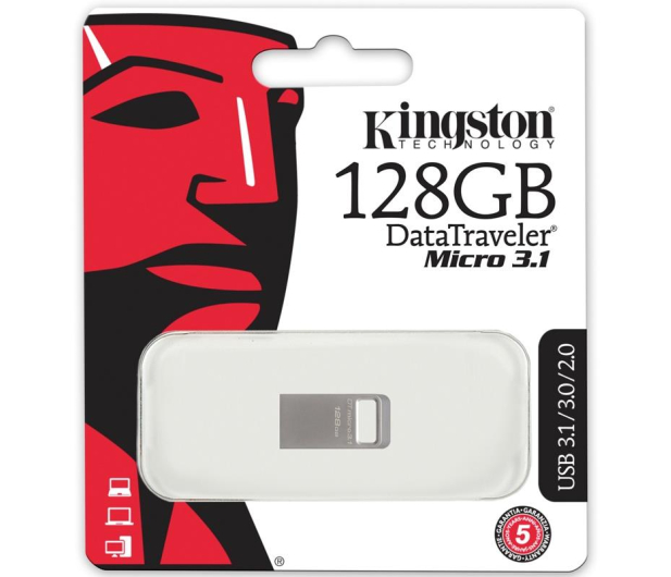Kingston 128GB DataTraveler Micro 3.1 (USB 3.1) 100MB/s  - 286795 - zdjęcie 3