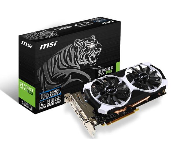 MSI GeForce GTX960 4096MB 128bit OC (Armor 2X)  - 247552 - zdjęcie