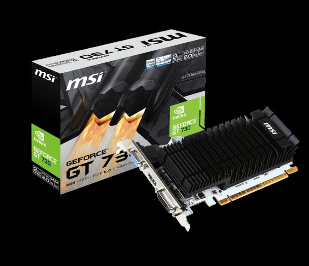 MSI GeForce GT 730  Low Profile 2GB DDR3 - 298684 - zdjęcie