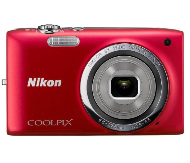 Nikon Coolpix A100 czerwony - 302526 - zdjęcie