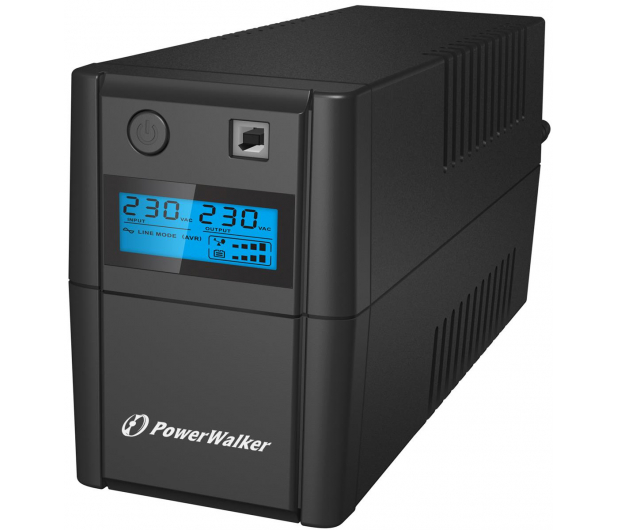 Power Walker VI 650 SE LCD (650VA/360W, 2xPL, USB, LCD, AVR) - 208709 - zdjęcie