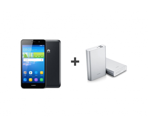 Huawei Y6 LTE Dual SIM czarny + Powerbank 13 000 mAh - 308287 - zdjęcie