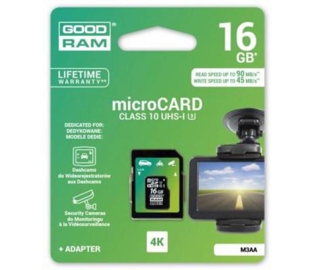 GOODRAM 16GB microSDHC zapis 45MB/s odczyt 90MB/s  - 309238 - zdjęcie 3