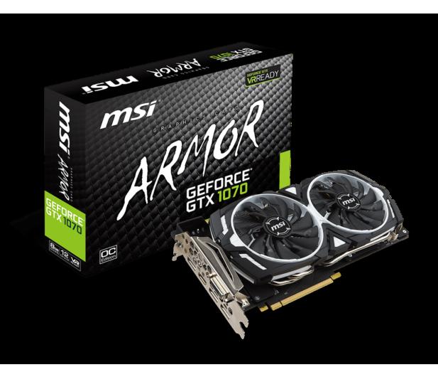 MSI GeForce GTX 1070 ARMOR 8GB OC GDDR5 - 311411 - zdjęcie