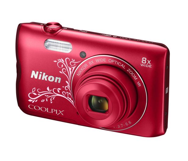 Nikon Coolpix A300 czerwony z ornamentem - 314043 - zdjęcie 5