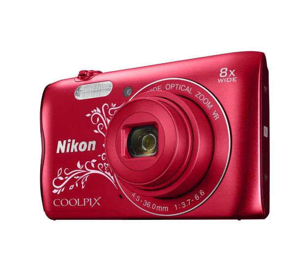 Nikon Coolpix A300 czerwony z ornamentem - 314043 - zdjęcie 2