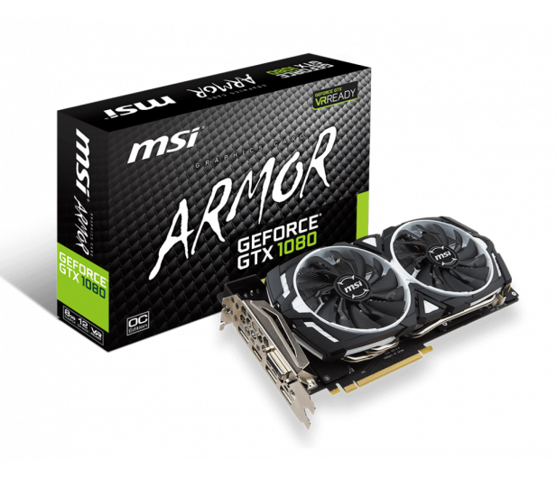 MSI GeForce GTX 1080 ARMOR OC 8GB GDDR5X  - 309884 - zdjęcie